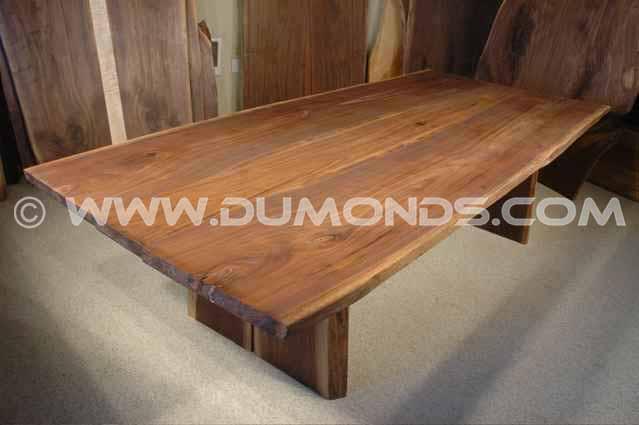 8.5′ x 46″ Large Walnut Live Edge Dining Table