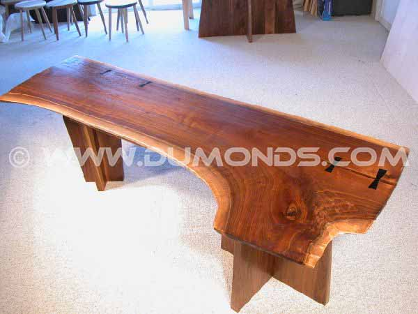 Double Pedestal Walnut Slab Executive Desk