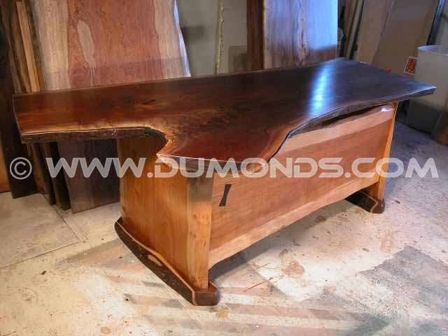 Handmade American Black Walnut executive custom log desk