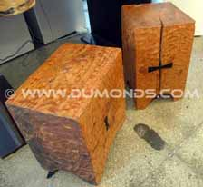 Pedestal Block Stools NY Showroom
