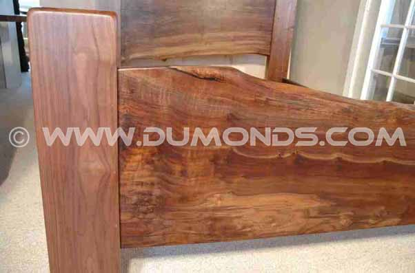 Reclaimed Walnut Slab Custom Bed