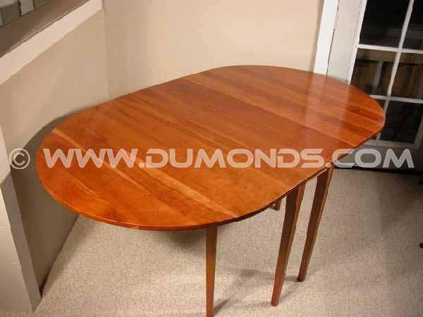 Drop Leaf Cherry Custom Dining Table