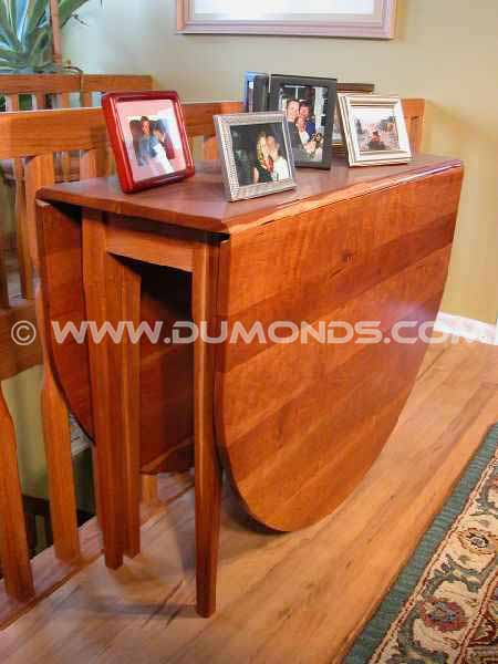 Cherry drop leaf handmade dining table
