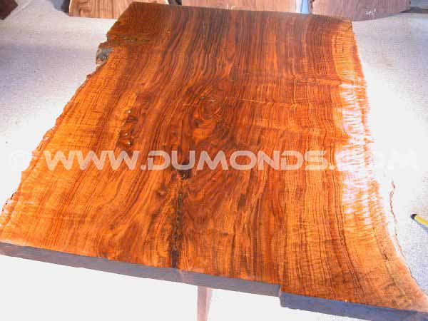 4' Claro Walnut Slab Dining Table