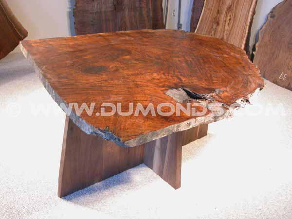 Burl Walnut Slab Custom Dining Table