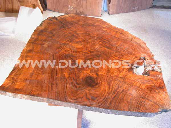 Claro Walnut Burl Slab Dining Table