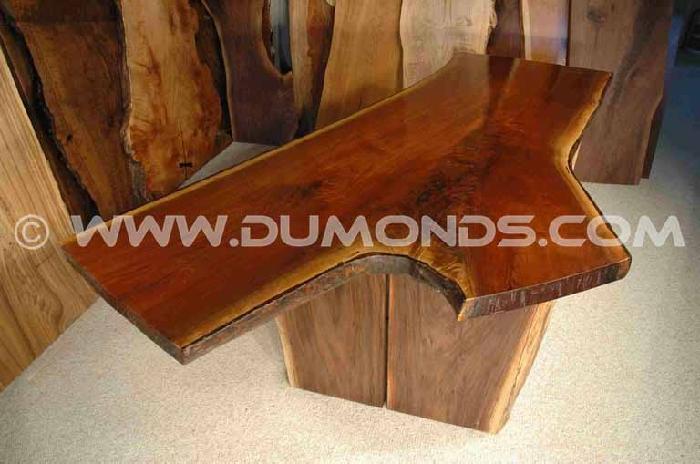 Walnut Crotch Slab Desk
