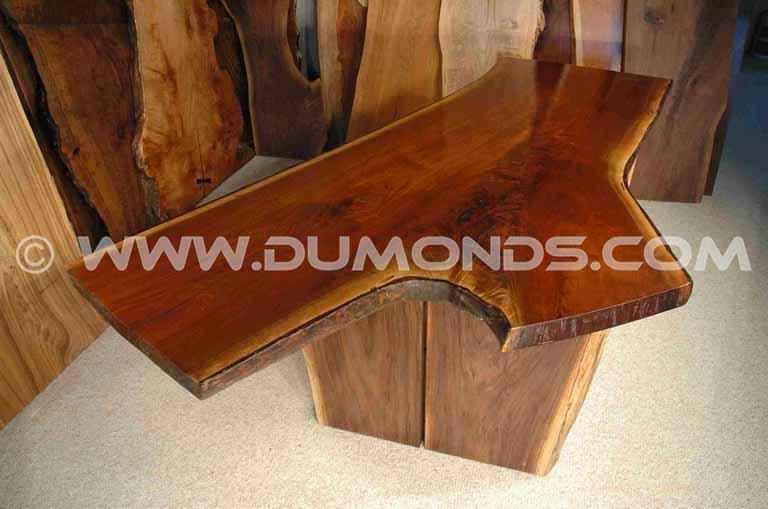 Walnut Crotch Slab Desk